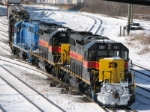 After Detouring Over The BNSF, Iowa Interstate Train CBBI Pulls Into Blue Island Yard